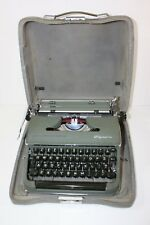 Olympia Typewriter DeLuxe SM3 Green with Case Vintage Germany 5E