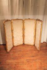 Ancien paravent de style Louis XVI en bois doré époque Napoléon III