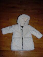 Lili Gaufrette Baby Coat sz 6 Mos Winter Faux Fur Jacket W/ Fleece Lining Hood