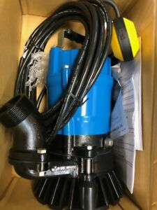Tsurumi HSZ2.4S; Float Operated semi-Vortex Submersible Trash Pump w/Agitator, 1