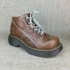 Dr. Martens Ankle Boots US 5 UK 3 Brown Leather Air Cushion Sole Womens Shoes