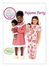 """Kwik Sew sewing pattern K227 filles & 18""""/46cm poupées Chemise de nuit et pyjamas"""