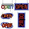 LED Neon Open Sign 20x10 / 24x12 / 31.5x15.7 inch Horizontal Window Adapter