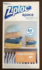 Ziploc 2Ct Space Bag Cube Combo Large And Extra Large Compression Storage Cubes