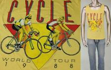 Vintage Cycle World Tour Tank Top Bicycle Cycling Muscle Racing Jersey T Shirt
