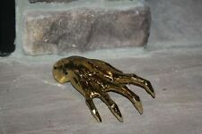HALLOWEEN PROP GOLDEN WITCH HAND WITH NAILS INCREDIBLE DETAIL SOLID RESIN 8""