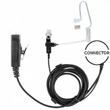 2-Wire Clear Tube Earpiece Clip-On PTT / Mic for Icom 3000-9000 (See List)
