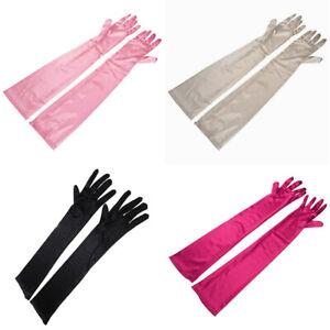Bridal Gloves Women Wedding Gloves Black Red Elbow Women Long Glove Dance Party