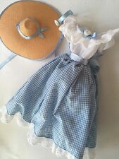 BARBIE BLUE GINGHAM DRESS Headband Hat  LITTLE DEBBIE COSTUME Outfit