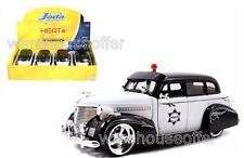 JADA 1:24 DISPLAY HEAT 1939 CHEVROLET MASTER DELUXE POLICE DIECAST CAR 96392
