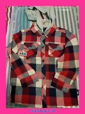 BRAND NEW A & J CARTER BOYS/GIRLS  RED HOODED (REMOVABLE HOOD) SHIRT 2-3 YEARS