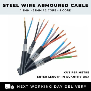 ALL SWA CABLE SIZES 1.5MM-25MM 2 CORE-5 CORE ARMOURED CABLE SOLD PER METRE