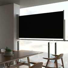 vidaXL Toldo Lateral Retráctil de Patio 120x300 cm Negro Cenador Carpa Pérgola