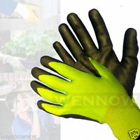 Lot of 5 Medium Rubber Coated Comfortable Flexible Breathable Work Glove
