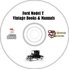 Ford Model T Vintage Books & Manuals on CD-  Henry Ford