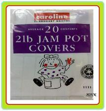20 2lb JAM POT COVERS LABLES PRESERVERS ELASTIC RUBBER BAND JAMPOT 1111