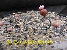 LOOK 3 x size 8 barbed withy pool carp rigs in weedy green perfect pop up rig