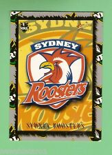 2000  SYDNEY  ROOSTERS   RUGBY LEAGUE TEAM LOGO  CARD  L13