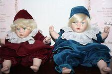 Pauline Bjornnes-Jacobsen Baby Pierrot + Baby Pierrette twins dolls
