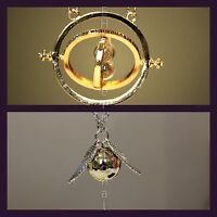 Harry Potter 2 pc Jewelry Necklace Set: Golden Snitch & Hermione's Time-Turner