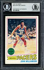 Super John Williamson Autographed 1977-78 Topps Card #44 Nets Beckett 11482193