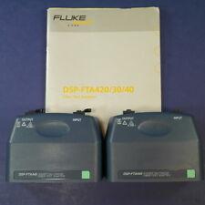 Fluke DSP-FTA440 Gigabit MultiMode Fiber Test Adapter, Set of 2, Manual