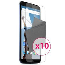 Films de protection Ultra Clear HD Pour Motorola Nexus 6 Lot de 10
