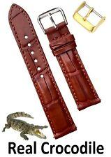 20mm Brown Alligator Watch Band Men