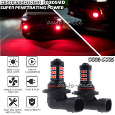 2x 30SMD 9006 HB4 Bright Red Projector LED Fog Light Bulbs Daytime Running Light