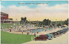 Municipal Swimming Pool in Gadsden AL Postcard