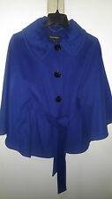 Ellen Tracy Women's Belted Wool Cape Coat, Blue, XS