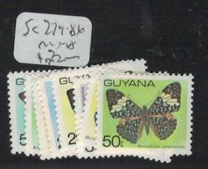 Guyana Butterfly SC 279-86, 72 MNH (7efr)