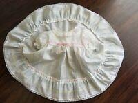 VTG Roanna Pastel Stripe Dress Circle Skirt Pinafore Bib Front Size 2T Made USA