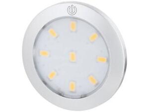 LED Slim Masterleuchte Aufbaustrahler Touch Schalter Spot Strahler 12V Mini-Amp