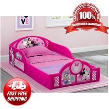 Pink Minnie Mouse Toddler Bed Frame Kid Child Bedroom Furniture Boy Girl