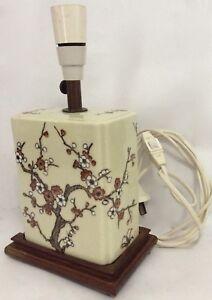 Vintage Ceramic/Timber Lamp Base