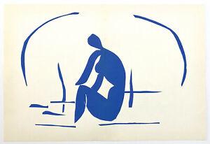 """Henri Matisse """"Baigneuse dans les roseaux"""" lithograph"""