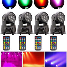 4PCS 105W Moving Head Stage Lights RGBW LED DMX Show Disco Party Lighting Remote