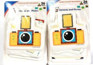 2 Carson Dellosa Education Colorful Cutouts Mini Assorted Cameras and Photos