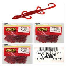"(3) Unopened Packs Zoom 6"" Lizards Super Salt Plus Tomatoe 002-084 Brand New"