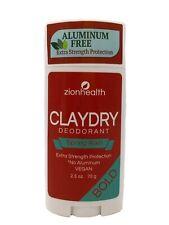 Zion Health Clay Dry Bold Deodorant Stick 2.5 oz Spring Rain