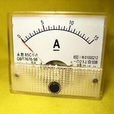 Current Panel Meter 15 Amp Analog Direct Display Solar Battery DC 12V 24V 15A 85