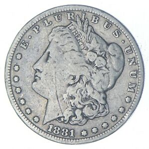 Early - 1881-S Morgan Silver Dollar - 90% US Coin *233