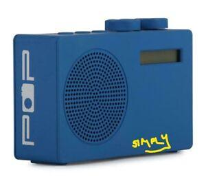 Pop Original DAB+/FM Portable Digital Radio Blue 3.5 mm Monotone With Speaker