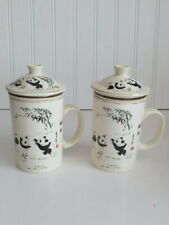 World Market 3 Piece Tea Infuser Panda Bear Cup Set of 2