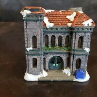 Ceramic Post Office Village Building Tealight Votive Candle Holder Home Decor