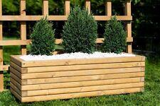 2x Trough wooden Planters  L70 x W40 x H35cm