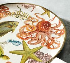 Pottery Barn Playa Sea Critter Melamine Large Serving Platter 17""