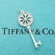 Tiffany & Co. 925 Sterling Silver Small Daisy Flower Key Diamond 1.5' In Pendant