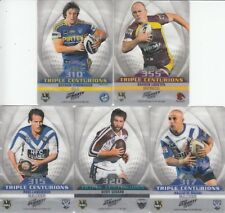 2012 NRL DYNASTY TRIPLE CENTURION TRADING CARDS - FULL SET OF 5